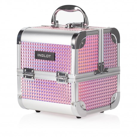 Makeup Case Ice Cube Mini Holographic Pink (MB152M K105-9H)