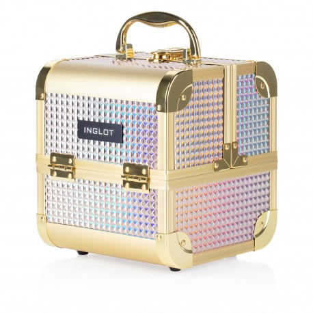 Makeup Case Ice Cube Mini Holographic Silver (MB152M K105-7H)