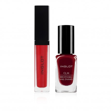 HD Lip Tint Matte 12, O2M Breathable Nail Enamel 652  (set 4)