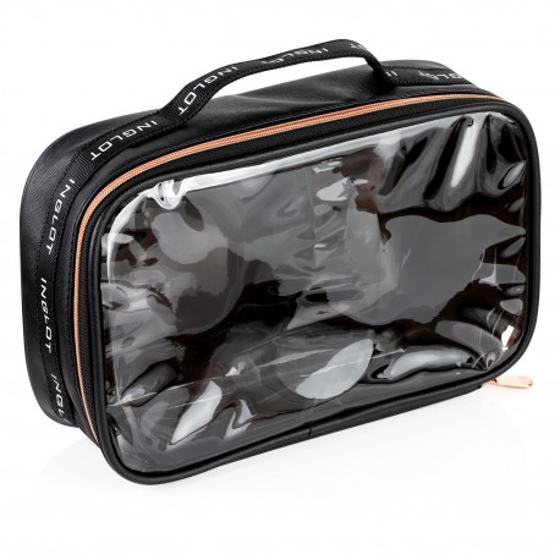 Travel Makeup Bag Big Black&Rose Gold