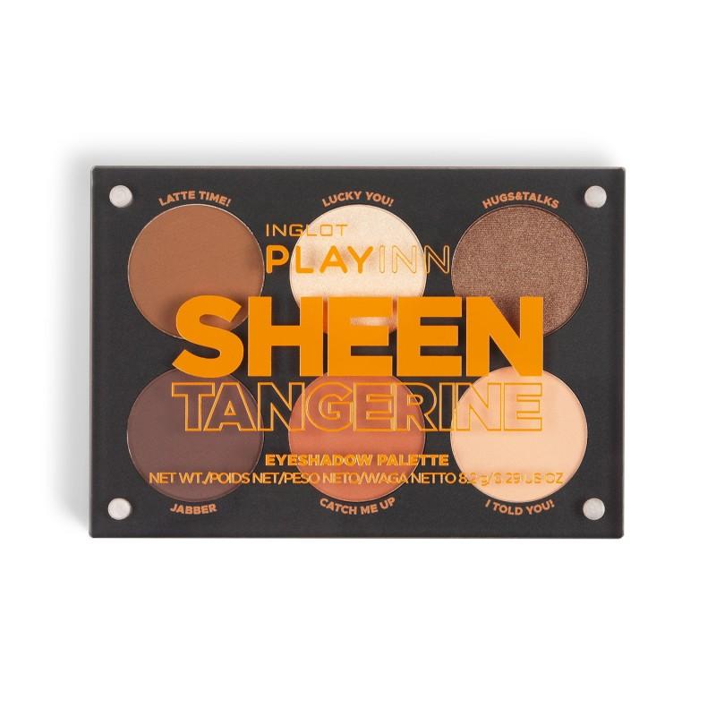 INGLOT PLAYINN Sheen Tangerine Eyeshadow Palette