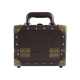 Makeup Case Retro Fashion Small Brown (KC-153BR)
