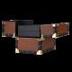 Makeup Case Ostrich Leather Pattern (KC-MS01S)