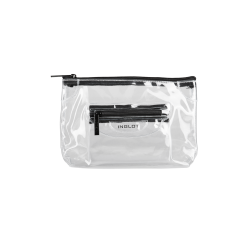 Transparent Cosmetic Bag Black (M)