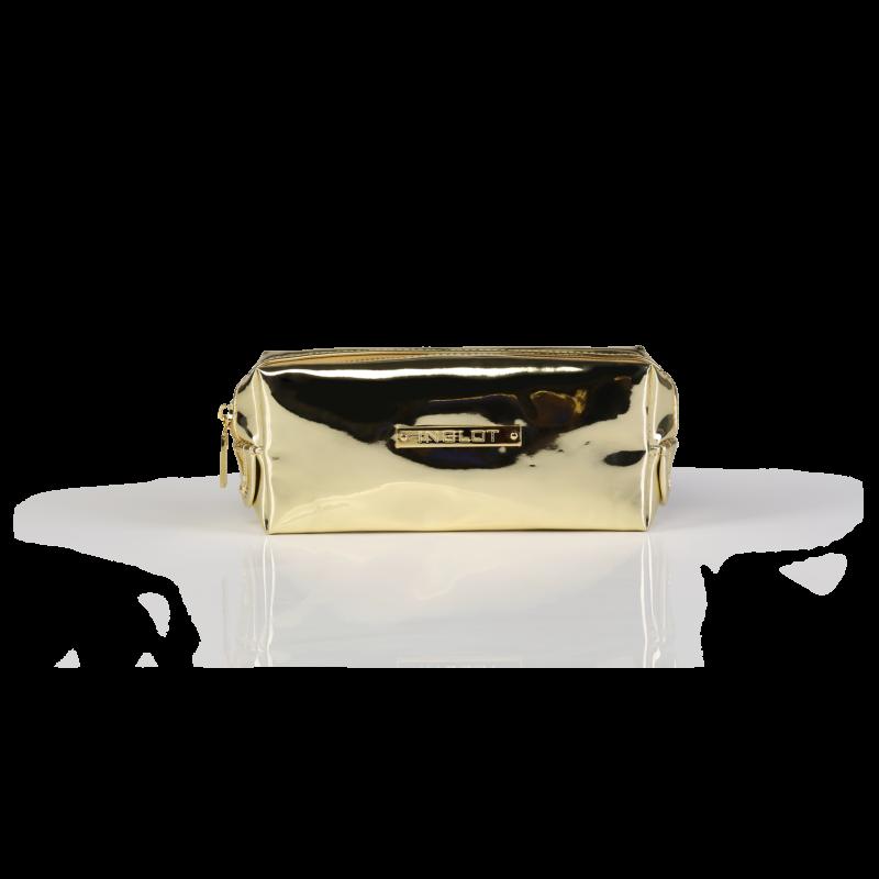 Cosmetic Bag Mirror Light Gold