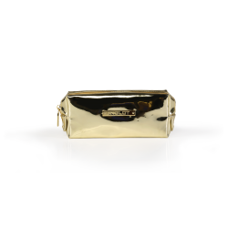 Cosmetic Bag Mirror Light Gold