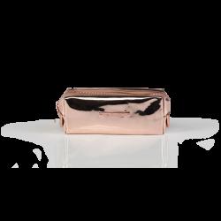 Cosmetic Bag Mirror Rose Gold