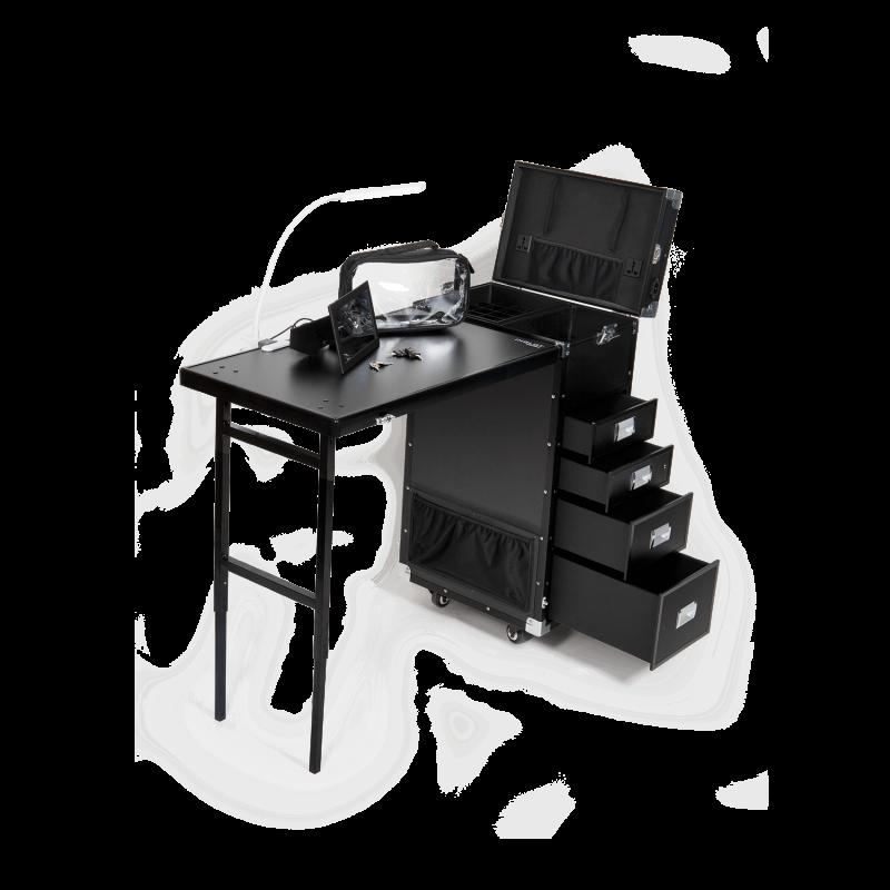 Portable Nail Art Station Black Kc 493