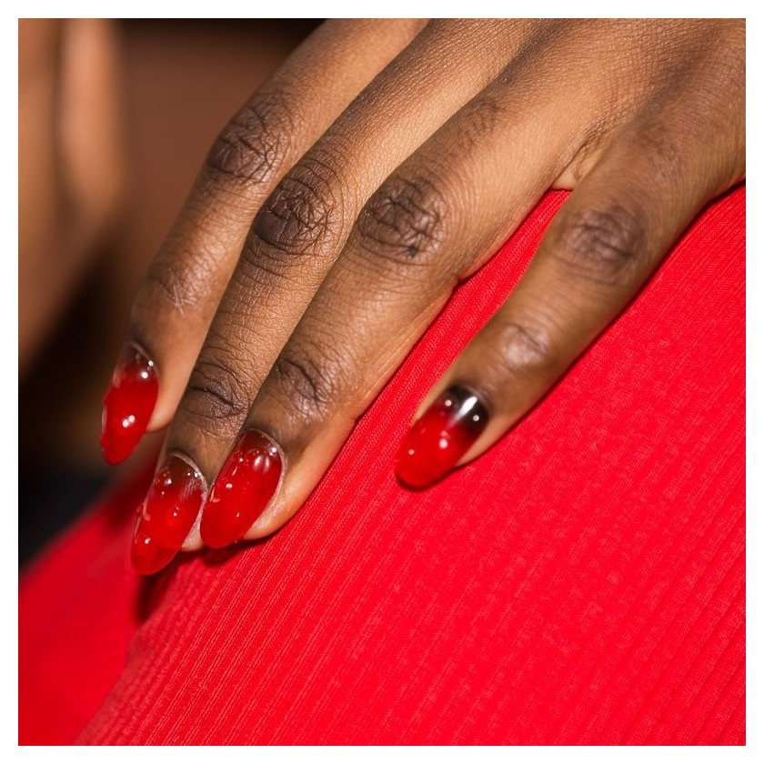 """Fresh Tomato"" nail trend for KENZO during Paris Fashion Week"
